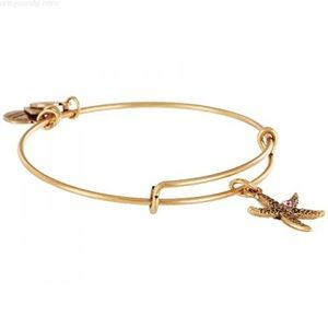 Gold Alex and Ani Arms of Strength Starfish Bangel